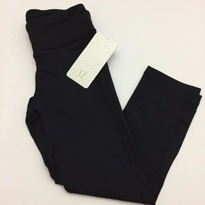 Lululemon Pace Rival Crop Black NWT New